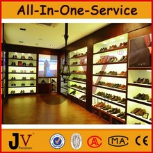 Tienda de zapatos de los muebles de diseño con vitrina zapato
