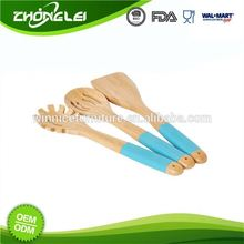 Wholesale Super Quality FSC Certificated Personalized Pasta Spoon Colorful