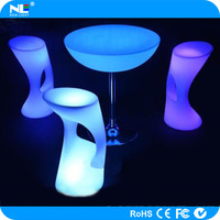 Party LED glowing cocktail table nightclub event LED light bar table light up bar cocktail table