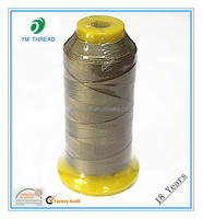 Polyester High Tenacity Sewing Thread For Leather Product 250D/3