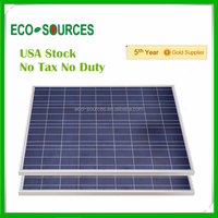 USA Stock 2X100W 12V poly solar panel for charging 100 watt 12V crystalline solar panel