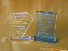 Special Design Acrylic shield award trophy/marble trophy base
