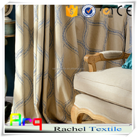 """latest Modern design 110"""" 2015 curtain American style 100% Polyester half blackout hotel using"""