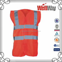 Wholesale China red summer 3M reflective high visibility safety vests