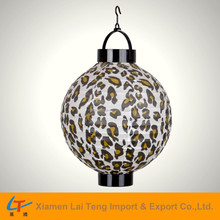 Fashion leopard printed battery operated foldable paper lantern