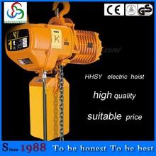 operación fácil HHSY 10T3M polipasto eléctrico de cadena con la cadena de conexión eléctrica elevador fabricación de China