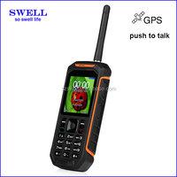 Powerful cellphone Walkie Talkie Mobile Phone IP67 Level Tri-Proof ip68 waterproof phone 3g gps celular X6