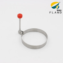 Apple shaped handle stainless steel heart shaped fire egg mold ring