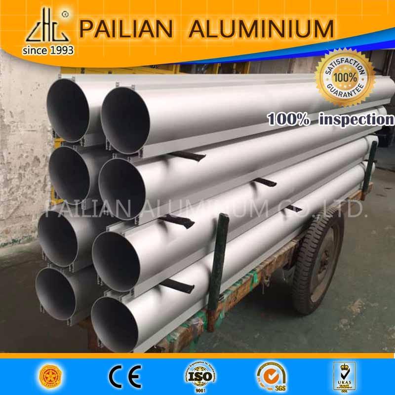 Wow! CNC court longueur en alliage d'aluminium anodisé argent blanc grande taille en aluminium tube