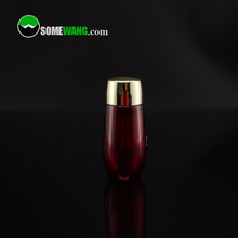 20ml skin toner bottle in red, PET bottle with shiny gold cap, easy for travelling
