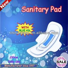 245 mm íntima de toallas sanitarias con ce, Fda