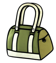 Novelty Magic Comic outdoor travel 3D bag