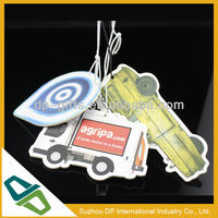 2013 new design paper car hanging scent for advertising
