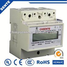 DDS7666 single-phase din rail digital electric meter hack prepaid electrical energy meter