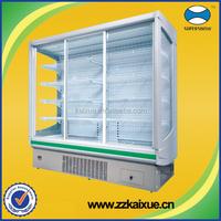 Multifunction glass door refrigeratored display case