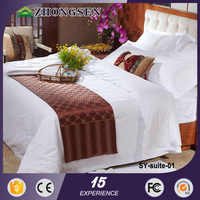 Wholesale 5 star hotel cotton dyed adults full size bedding sets