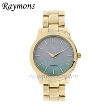 Womens assorted iridescent 38mm dial gold-tone bracelet watch