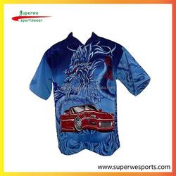 Sublimated OEM Custom Men's Motocycle Race Team Shirt, Pit Crew Shirt