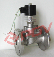 POH-25FB flange stainless steel high temperature controlled solenoid valve