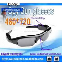 1.3MP Sunglases Video Recorder Hidden Camera,Sports DVR eyeglass Camera DVR DV-G6