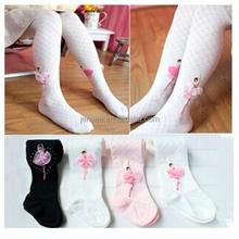 Cute princess durable dance cotton ballet tights, white ballet tube tights pantyhose