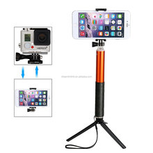 270 degree Adjustable selfie stick with bluetooth shutter button for mobiles