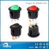 UL approved 12V Led Dot Light Round Rocker ON/OFF SPST Switch