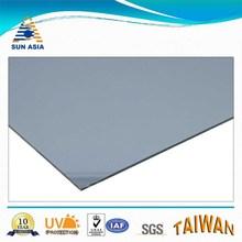 UV coated smoke blue flat feuille en polycarbonate