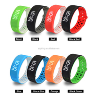 waterproof promotional fitbit flex belt clip pedometer, fitness wristband, smart activity fitness 3d pedometer touch