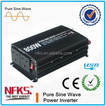 CHEAPEST 800w DC TO AC pure sine wave Small OFF GRID Solar Home Use power inverter WITH USB
