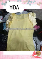 used clothing/second hand clothing/ used clothes,/ lady fashion cotton blouse/new design cotton blouse for women