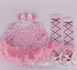 baby girls pettiskirt set ,4 pcs infant headbands ,girls shoes,leg warmers