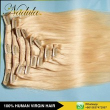 Machine Weft Unprocessed Clip In Hair Extension