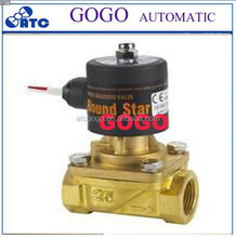 pilot operated solenoid valve suit for steam high temperature water gas oil 24vDC