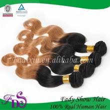 Supple not entanglement ombre India hair extension