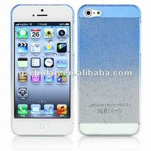 "Dual graduated colors water drop case for iphone5"" plastic hard cover"