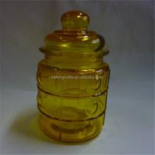 270 ml colorido vasilha de vidro frasco de vidro com anel de vedação