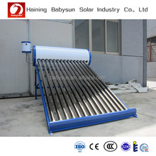2015 excellent non pressurized rooftop solar water heater with new silicon ring