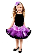 European and American style skirt tutu for girls cute design chiffon polka dot pettiskirt