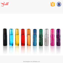 10ml black/yellow/red/pink/green roll on glass bottle