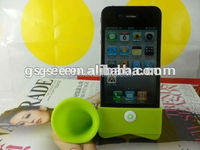High quality silicon Horn stand for i phone 4 4s
