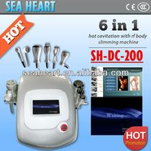2014 New Home Portable Cavitation RF Ultrasonic fat loss machine with Color Photon Probe