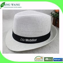 Paper straw panama hat, promotional straw hat, cheap straw hat