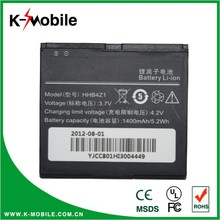 Rechargeable 3.7V 1600mAh battery for U9000 for Ideos X6/HHB4Z1 battery akku, made in China for Huawei