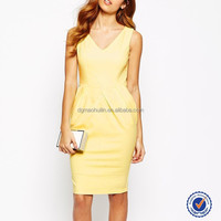 frock design for cutting trendy lady dress one piece v neck girls party dress pleated waist elegant sexy dress