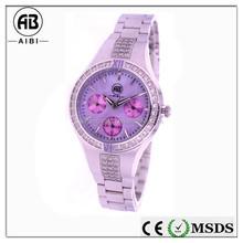 ladies custom printing silver manufacturer luxury miyota movement waterproof 10 atm watch