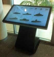 """Surface acoustic wave 42"""" touch interactive all in one signage, for advertising in retails"""