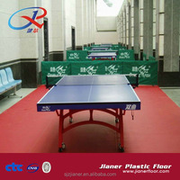Excellent rebound PVC Plastic Table Tennis Sports Floor