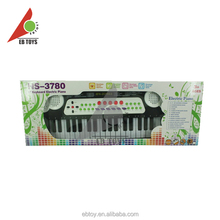 Professional stand white and black 37 keys electronic organ for kids toy