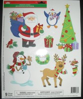 window clings of christmas, christmas stickers